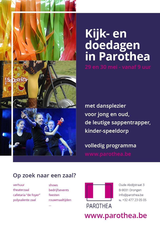 Kijk en doe dagen in Parothea!